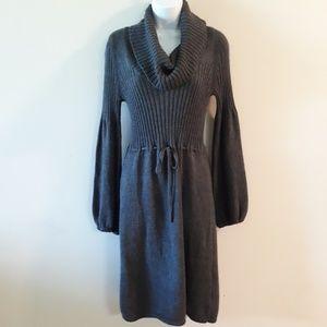 Calvin Klein| Wool Blend Cowl Neck Sweater Dress